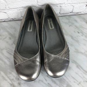 Steve Madden Mariee Ballet Flats Silver Size 7